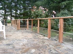 Garde corps ext rieur atelier glotin pontchateau - Balustrade exterieure bois inox ...