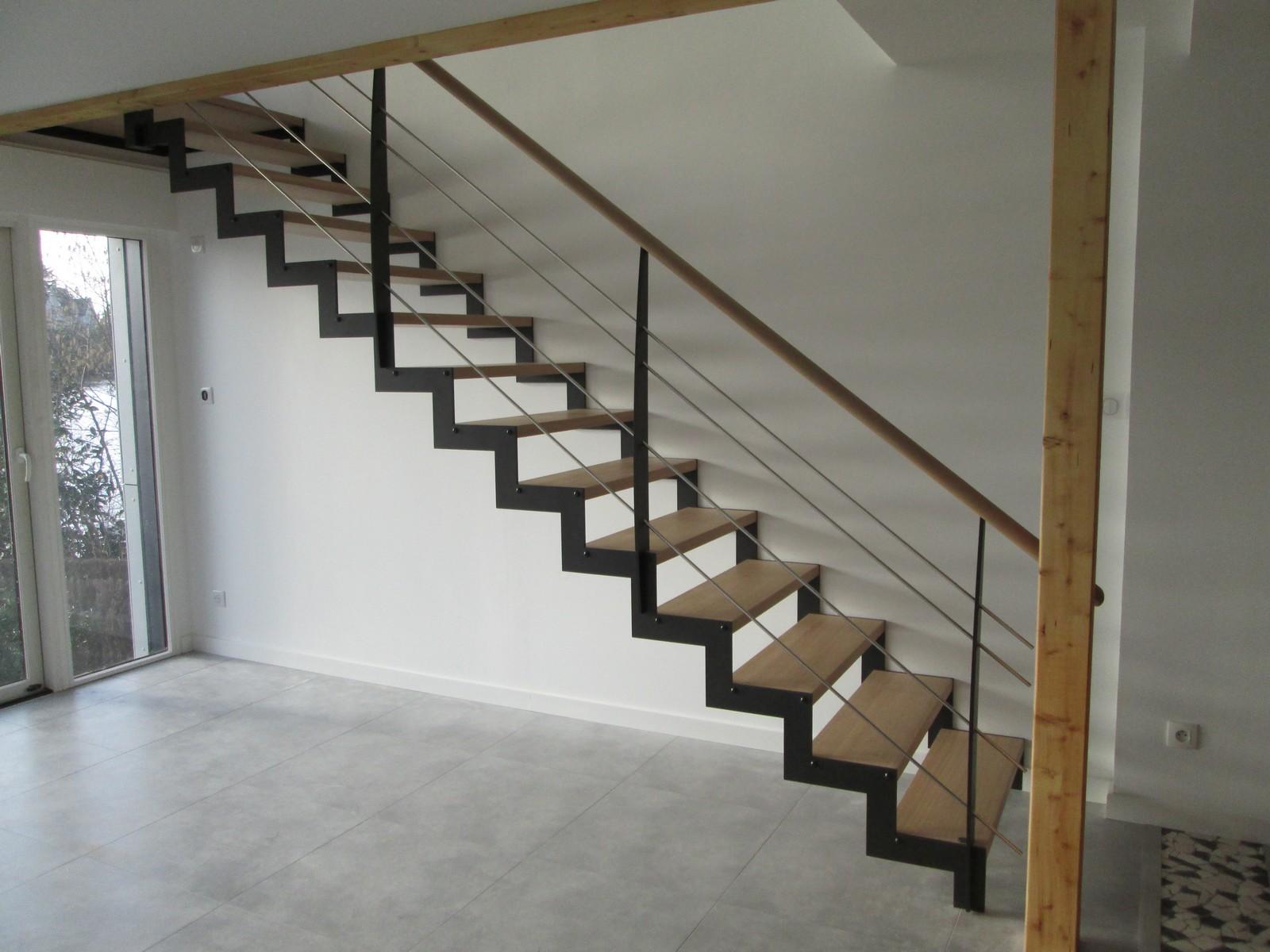 Peinture Escalier Noir Mat accueil - atelier glotin à pontchateau fabrication d